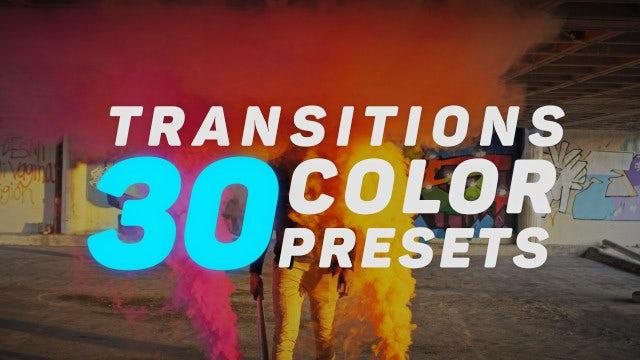 Transitions Color Presets V.2: Premiere Pro Presets