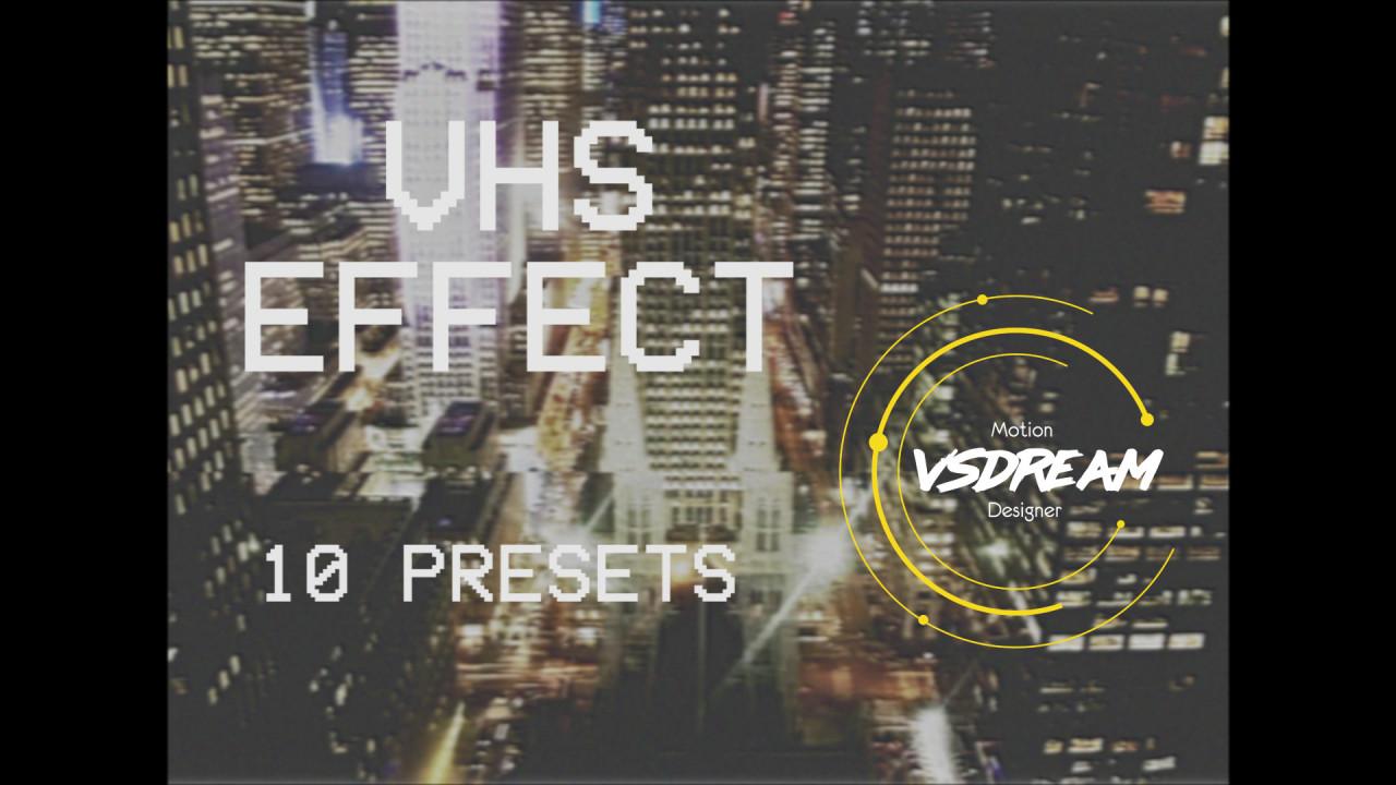 Retro VHS Effect - Premiere Pro Presets   Motion Array