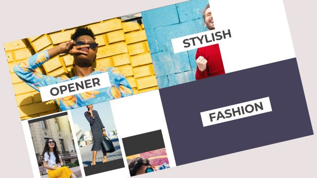 Stylish Slideshow Opener: After Effects Templates