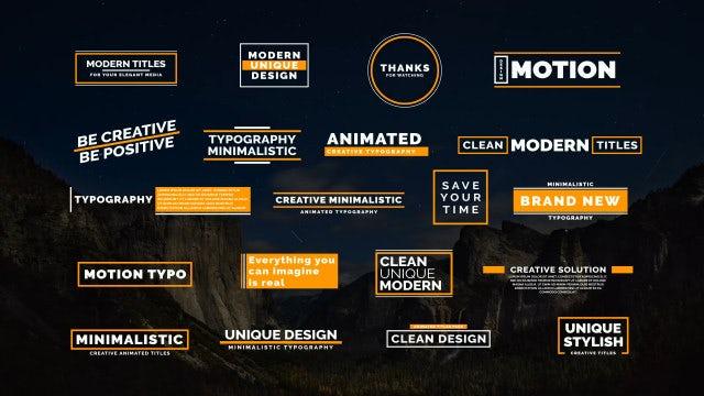 20 Creative Typo: Motion Graphics Templates