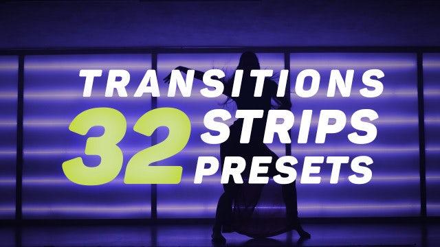 Strips Transitions Presets: Premiere Pro Presets