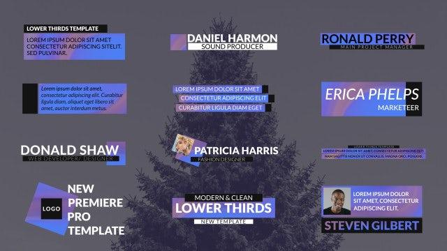 Hologram Lower Thirds: Premiere Pro Templates