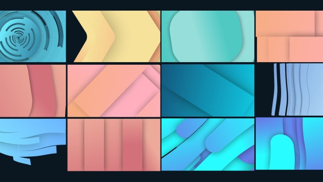 Trendy Shape Transitions: Stock Motion Graphics