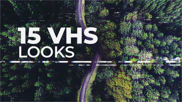VHS Looks Effects: Premiere Pro Templates