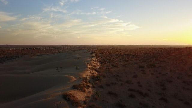 Photographer Standing On Dunes: Stock Video