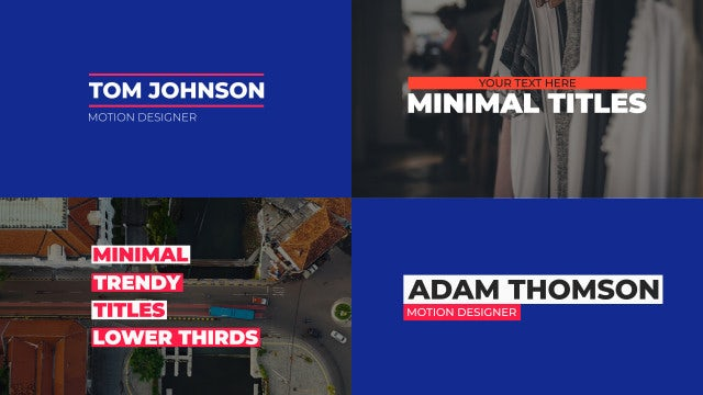 Minimal Titles And Lower Thirds Pack: Motion Graphics Templates