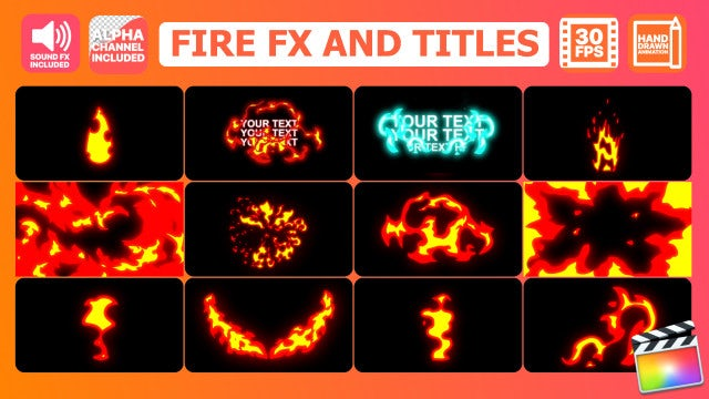 Fire FX And Titles - Final Cut Pro Templates | Motion Array