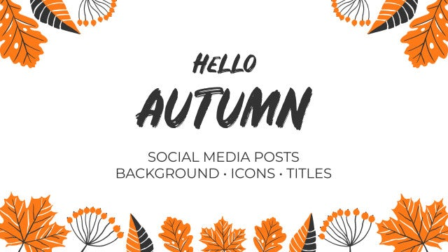 Hello Autumn Hand Drawn Pack: Premiere Pro Templates