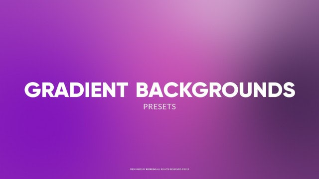 Animated Gradient Backgrounds: Premiere Pro Presets
