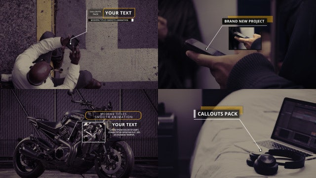 Clean Minimal Callouts: After Effects Templates