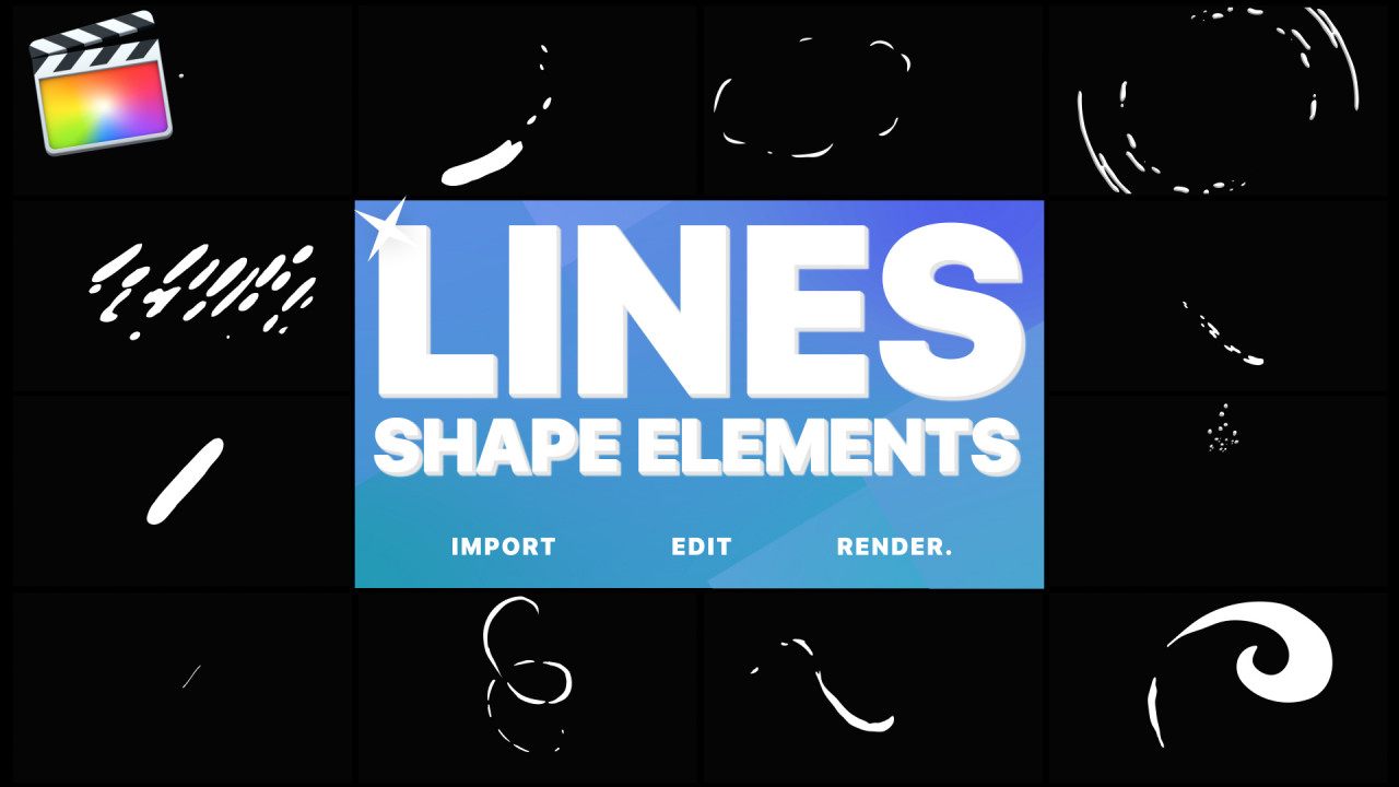 Flash FX Shape Lines - Final Cut Pro Templates | Motion Array