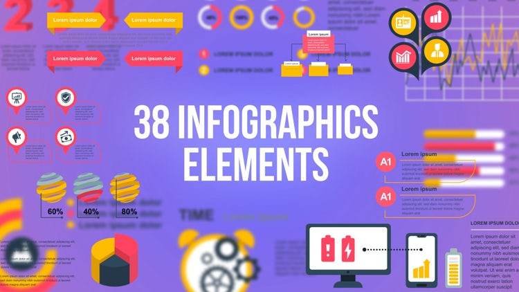 38 Infographics Elements: After Effects Templates