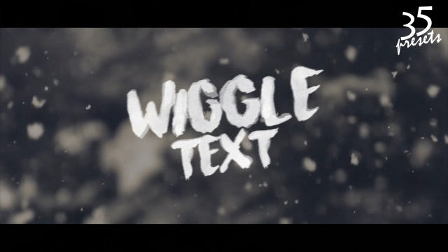Wiggle Text Animation + Editor: Premiere Pro Presets