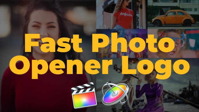Fast Photo Opener Logo: Final Cut Pro Templates
