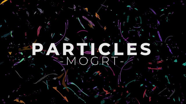 Particles: Motion Graphics Templates