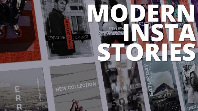 Modern Insta Stories: After Effects Templates