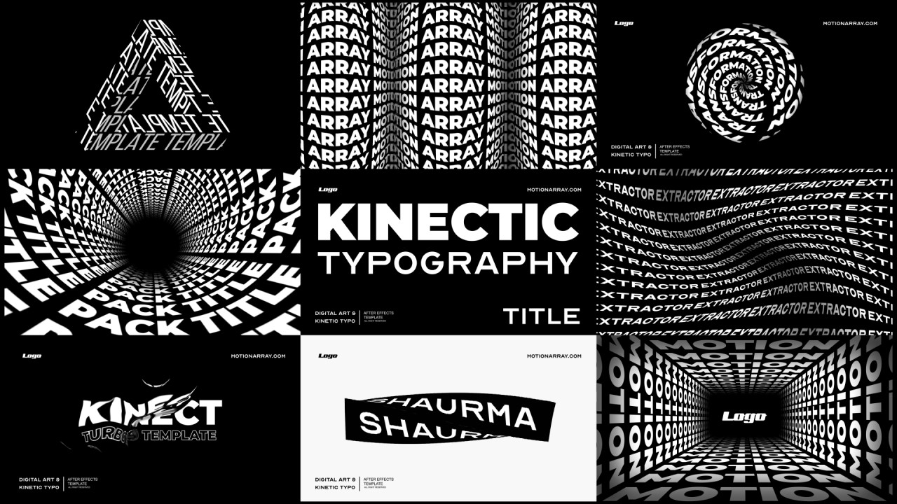 Kinetic Typography Titles After Effects Templates Motion