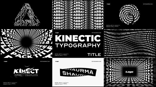 Kinetic Typography Titles: After Effects Templates