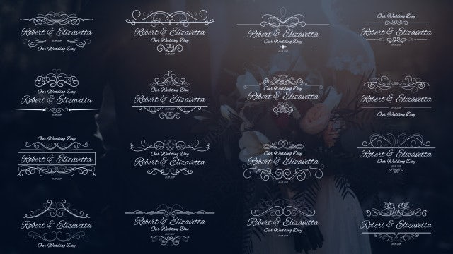 Wedding Calligraphic Titles: Motion Graphics Templates