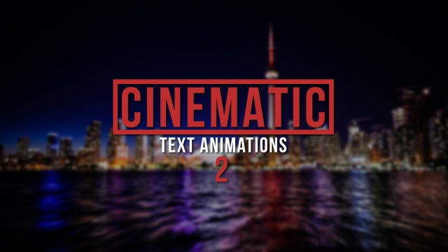 Cinematic Text Animations 2: Premiere Pro Presets