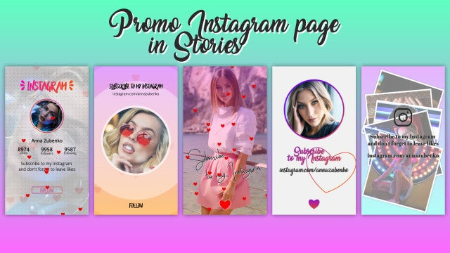 Promo Instagram Page In Stories: After Effects Templates