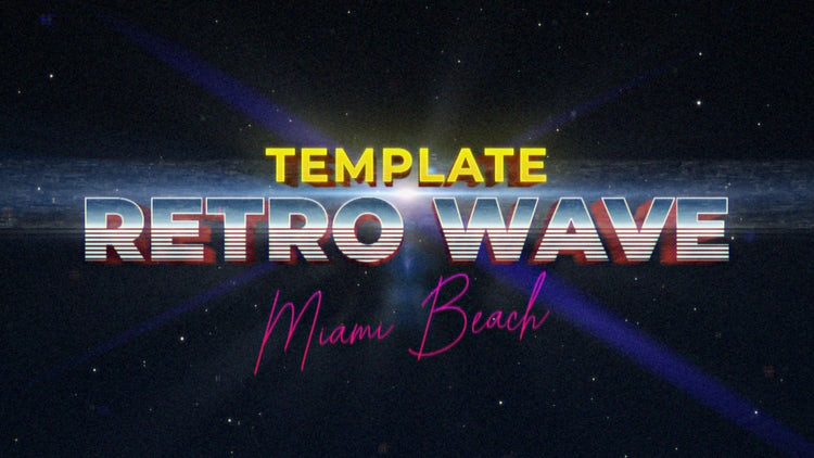 Retro Wave Intro #6: After Effects Templates