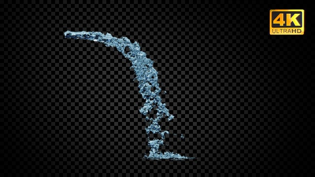 Angled Water Jet: Stock Motion Graphics