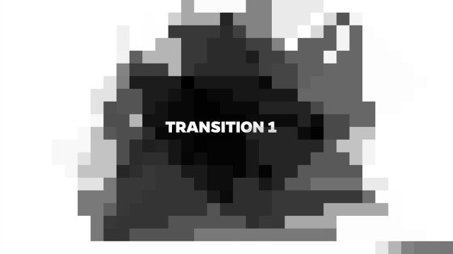 Pixel Transitions: Stock Motion Graphics
