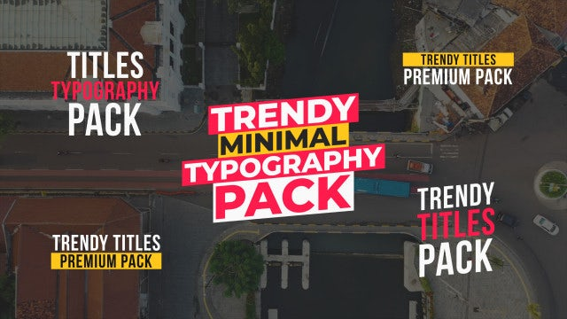 Typography And Titles Pack: Motion Graphics Templates