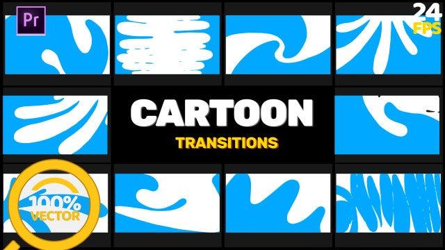 Cartoon Paint Transition: Stock Motion Graphics