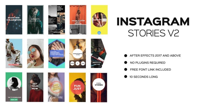 Instagram Stories V2: Premiere Pro Templates