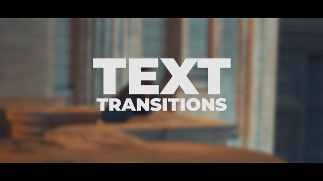 Text Transitions: Premiere Pro Presets