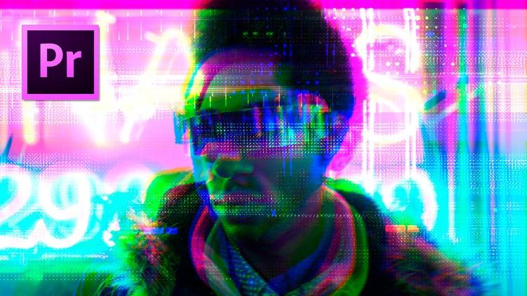 Cyberpunk Glitch Transition: Premiere Pro Templates