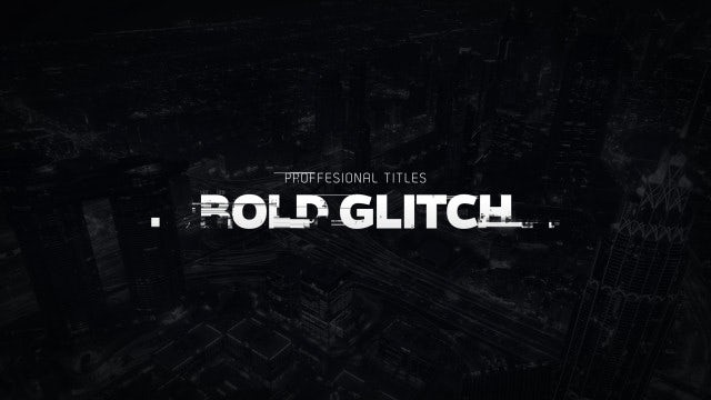 Titles Animator - Bold Glitch: After Effects Templates