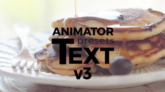 Text Animator V.3: After Effects Presets