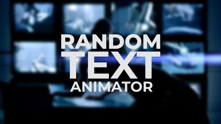 Random Text Animator - After Effects Presets | Motion Array
