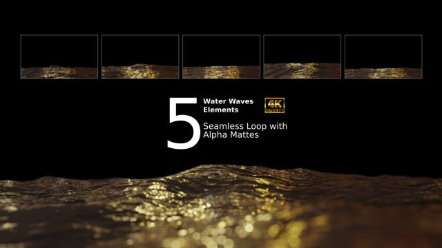 Golden Waves Loop Pack - Stock Motion Graphics | Motion Array