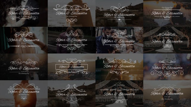 Wedding Calligraphic Titles: Premiere Pro Templates