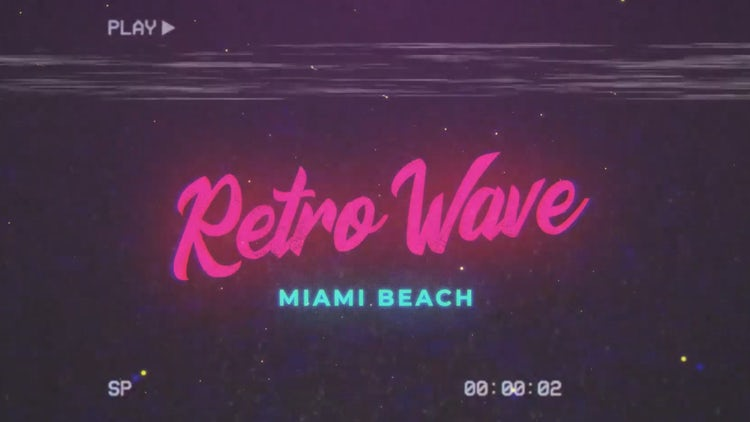 Retro Wave Intro #8: After Effects Templates