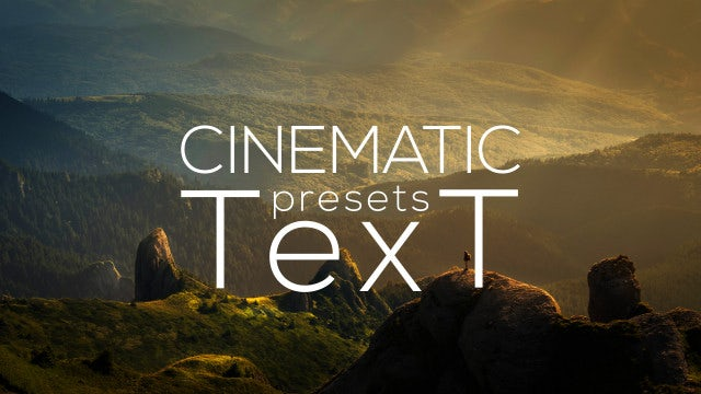 Cinematic Text Animator: After Effects Presets