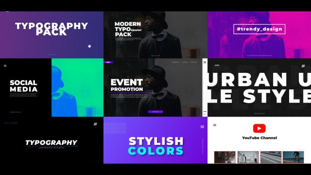 Typo Scenes: After Effects Templates