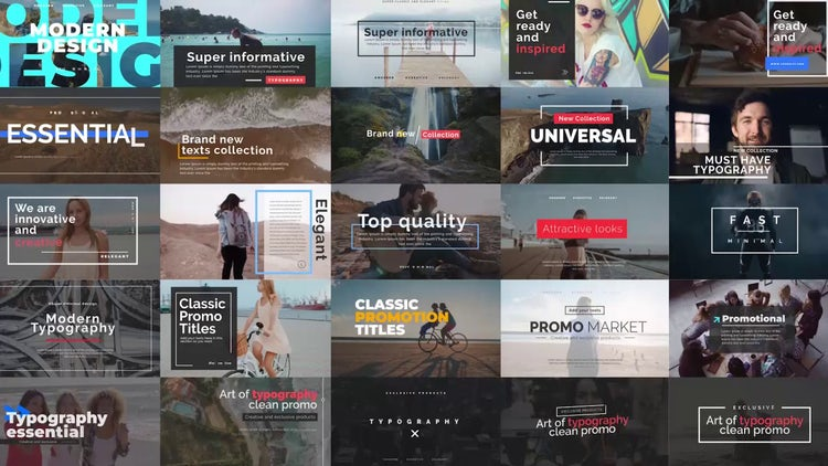 Essential Title V.2: After Effects Templates