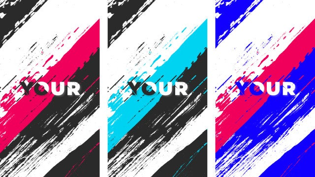 Instagram Brush Titles: After Effects Templates