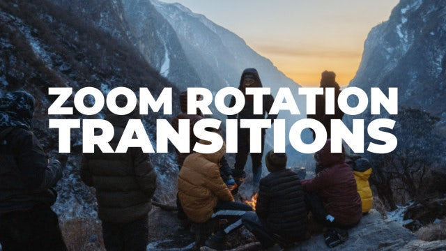 Zoom Rotation Transitions: Premiere Pro Presets