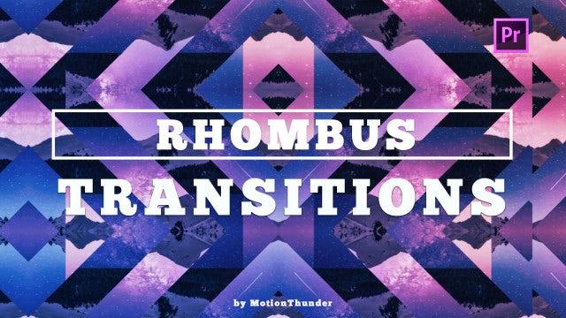 Rhombus Transitions: Premiere Pro Presets