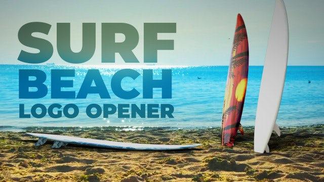Surf Beach Logo: After Effects Templates