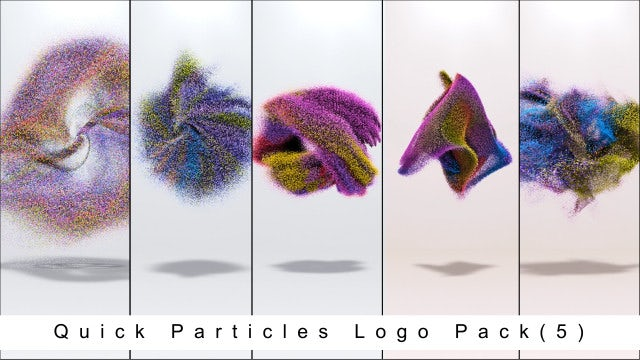 Quick Particles Logo Pack 5: After Effects Templates