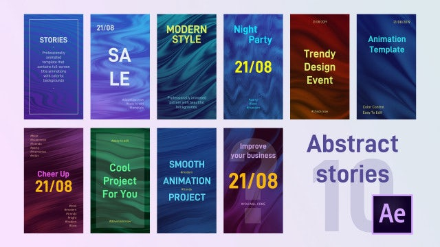10 Abstract Stories: After Effects Templates
