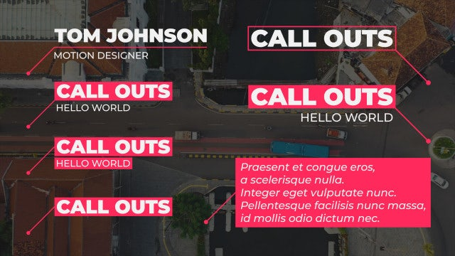 25 Call-Outs Pack: Motion Graphics Templates