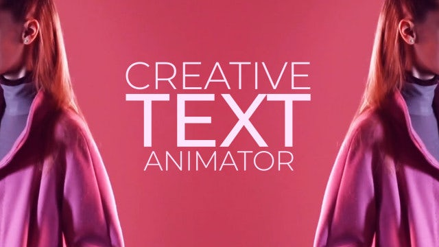 Creative Text Animator: After Effects Presets